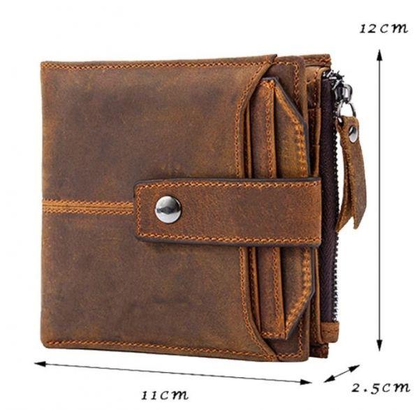 Кошелек с потертостями Vintage 14689 коричневый