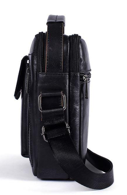 Сумка мужская гладкая Vintage 14708 черная