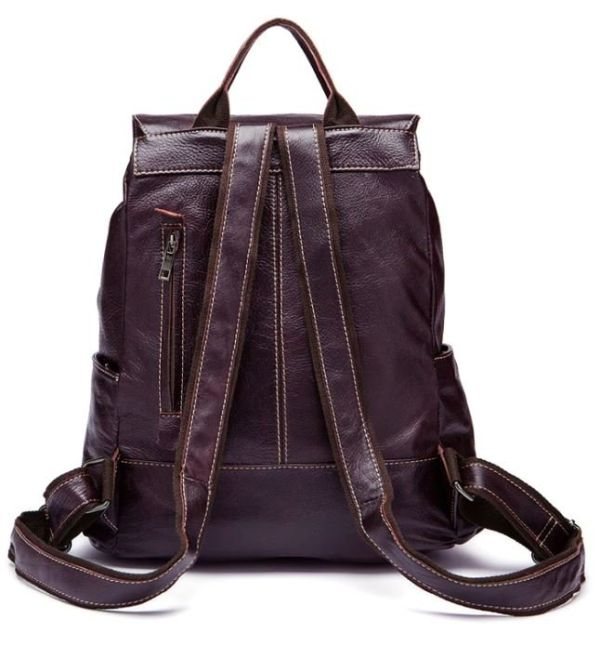 Рюкзак Vintage 14714 кожаный сливовый