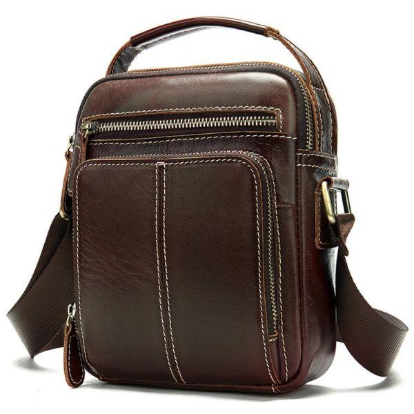Сумка мужская Vintage 14745 коричневая