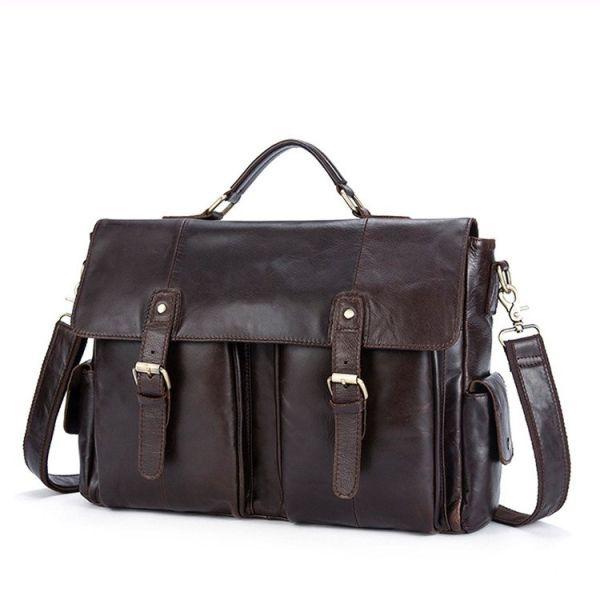 Портфель деловой мужской под ноутбук Vintage 14749 коричневый