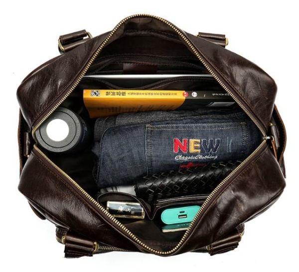 Дорожная сумка Vintage 14755 коричневая