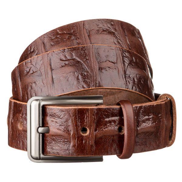 Ремень мужской SHVIGEL 15269 кожаный коричневый