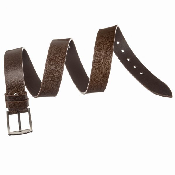 Мужской кожаный ремень MAYBIK 15248 коричневый