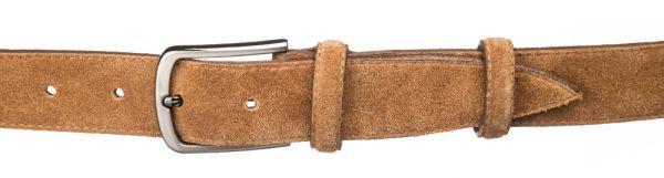 Ремень замшевый MAYBIK 15266 светло-коричневый