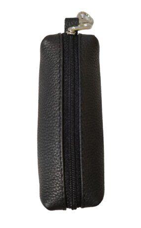 Ключниця тубус шкіряна класика SHVIGEL 16226 чорна