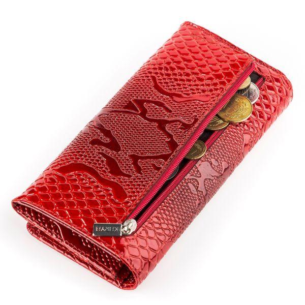 Кошелек женский KARYA 17000 кожаный красный