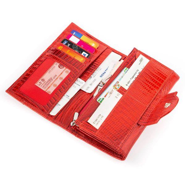 Кошелек женский CANPELLINI 17045 кожаный красный
