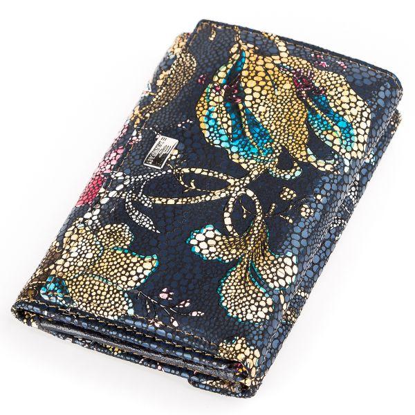 Женский кошелек Desisan 17057 кожаный хохлома