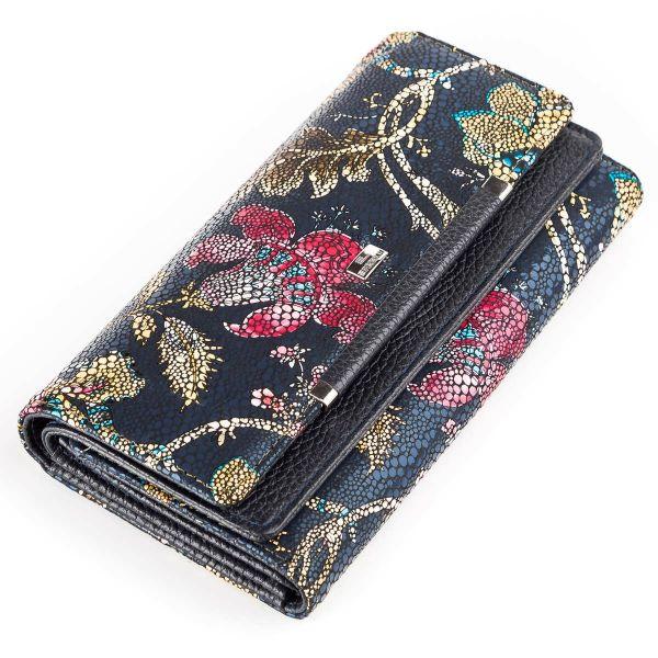 Женский кошелек Desisan 17058 кожаный хохлома