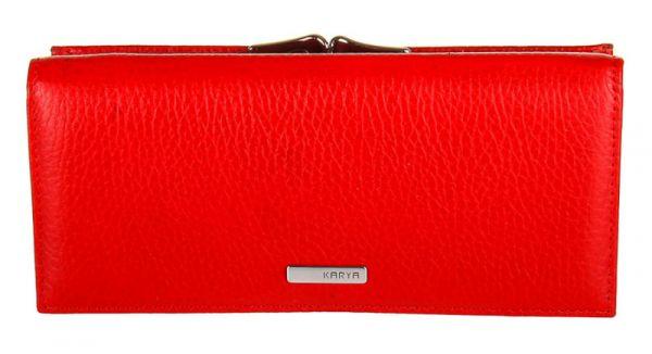 Кошелек женский KARYA 17156 кожаный красный
