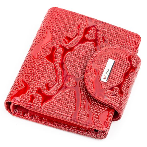 Кошелек женский KARYA 17166 кожаный красный