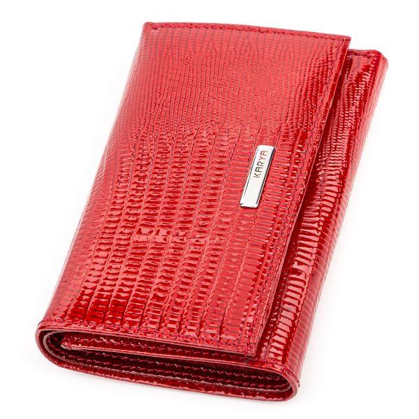 Кошелек женский KARYA 17169 кожаный красный