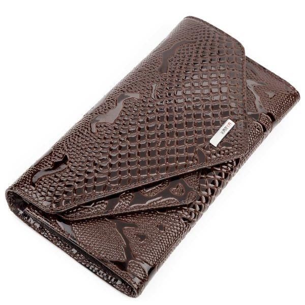 Кошелек женский KARYA 17190 кожаный коричневый