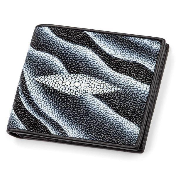 Портмоне мужское STINGRAY LEATHER 18061 из натуральной кожи морского ската черное