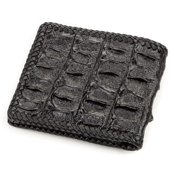 Портмоне CROCODILE LEATHER 18176 из натуральной кожи крокодила черное