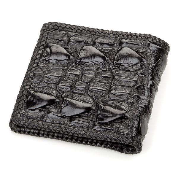 Портмоне CROCODILE LEATHER 18186 из натуральной кожи крокодила черное