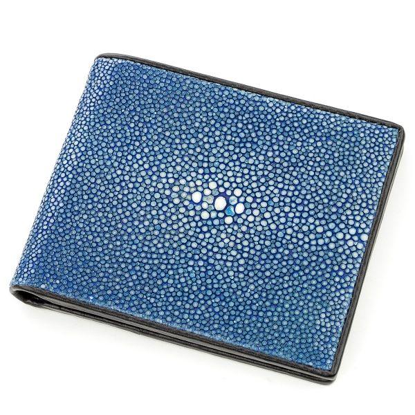 Бумажник STINGRAY LEATHER 18565 из натуральной кожи морского ската синий