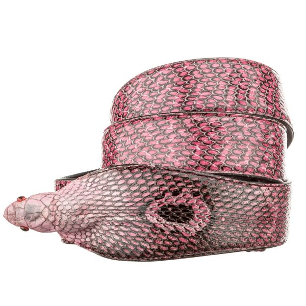 Ремень SNAKE LEATHER 18592 из натуральной кожи кобры розовый