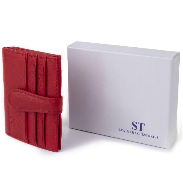 Гаманець-візитниця ST Leather 19211 червоний
