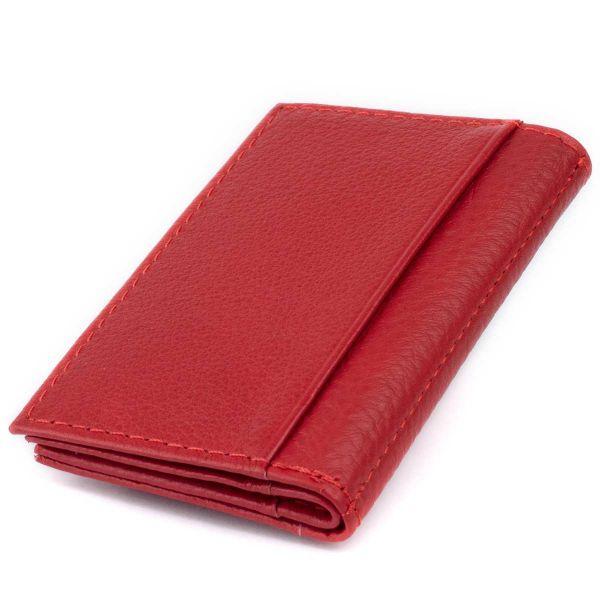 Визитница-книжка ST Leather 19214 Красная