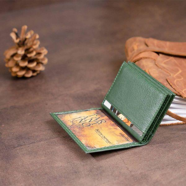 Візитниця-книжка ST Leather 19215 зелена