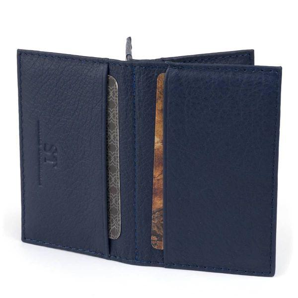Визитница-книжка ST Leather 19217 Темно-синяя