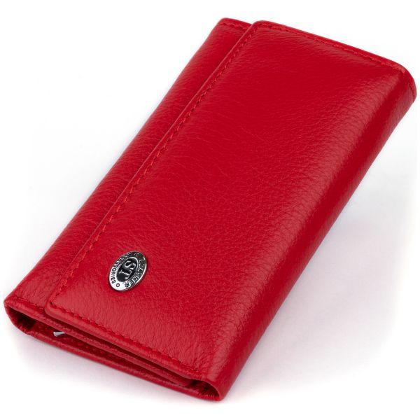 Ключница-кошелек женская ST Leather 19222 красная