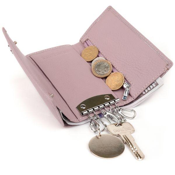 Ключница-кошелек женская ST Leather 19223 Лиловая