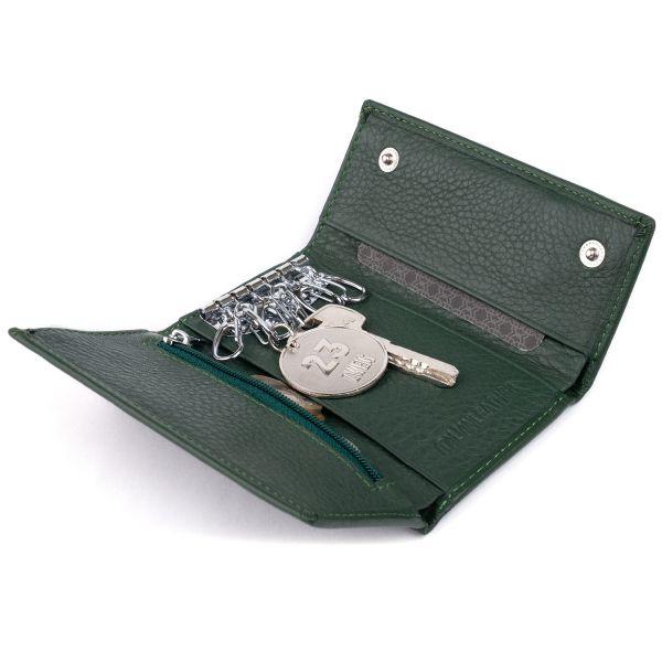 Ключница-кошелек унисекс ST Leather 19224 зеленая