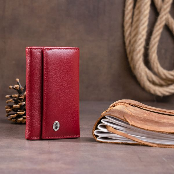 Ключница-кошелек женская ST Leather 19226 Бордовая