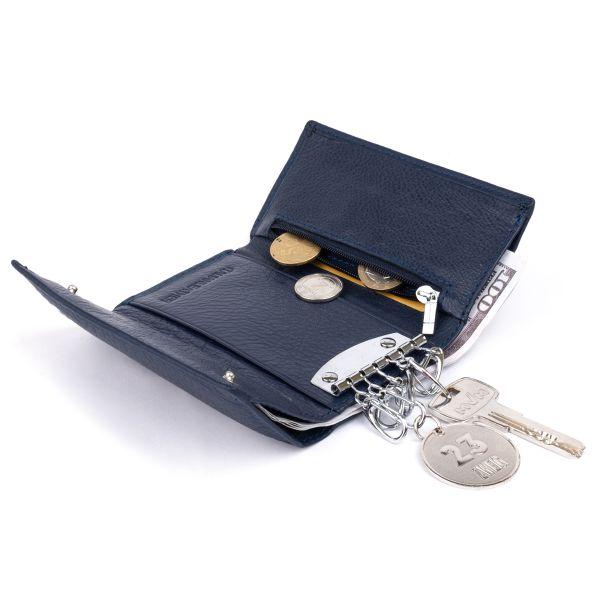 Ключница-кошелек унисекс ST Leather 19228 синяя