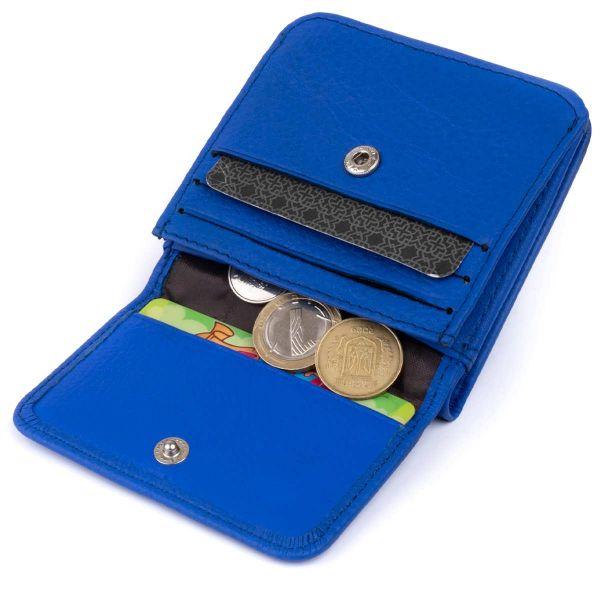 Маленький кошелек на кнопке женский ST Leather 19234 Синий