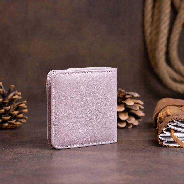 Маленький кошелек на кнопке женский ST Leather 19238 Лиловый