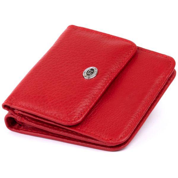 Маленький кошелек на кнопке женский ST Leather 19239 Красный