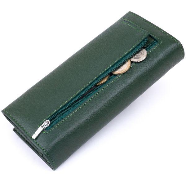 Кошелек на магнитах с клапаном женский ST Leather 19240 Зеленый