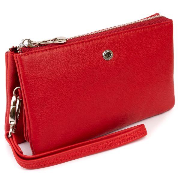 Місткий клатч з двох частин жіночий ST Leather 19251 червоний