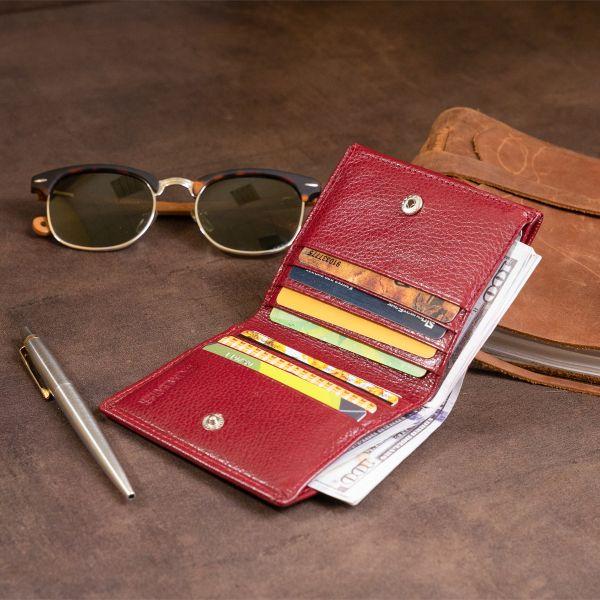 Компактный кошелек женский ST Leather 19257 бордовый