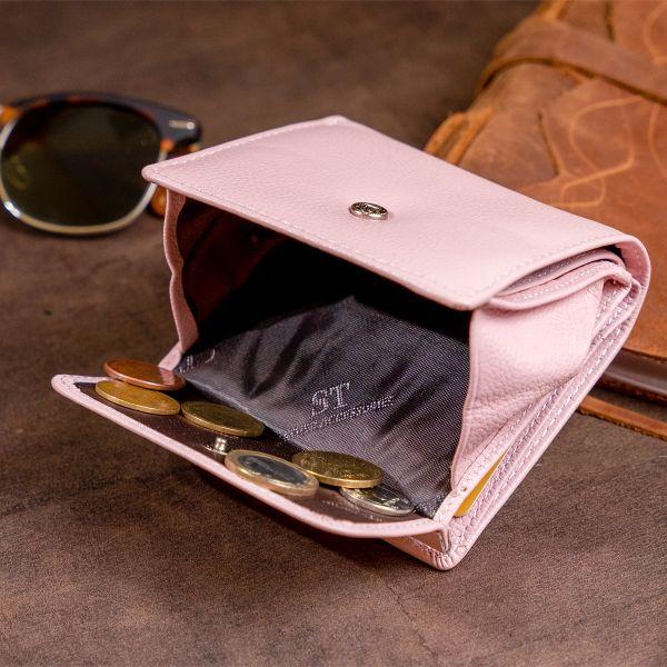 Маленький кошелек с автономной монетницьою женский ST Leather 19265 розовый