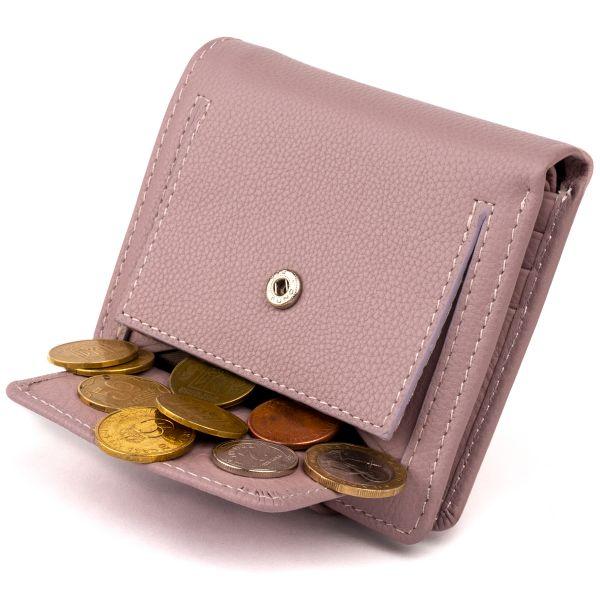 Маленький кошелек с монетницей сзади женский ST Leather 19266 Лиловый