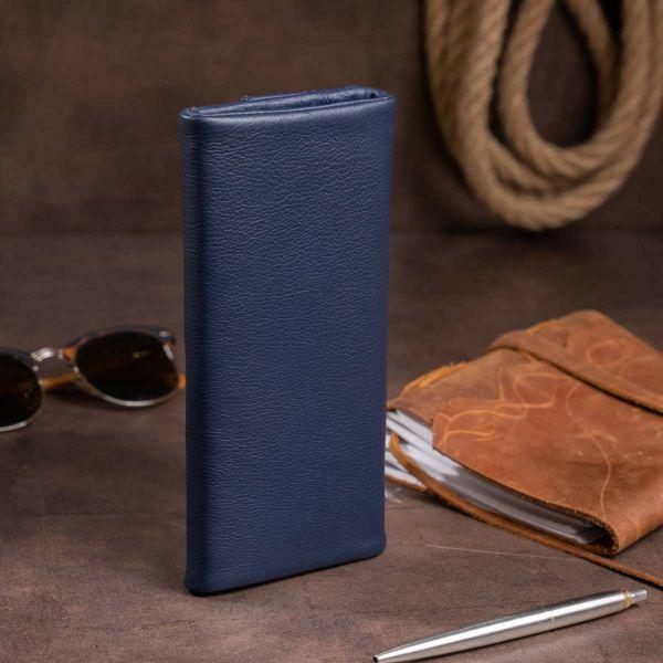 Клатч конверт с карманом для мобильного кожаный женский ST Leather 19272 синий