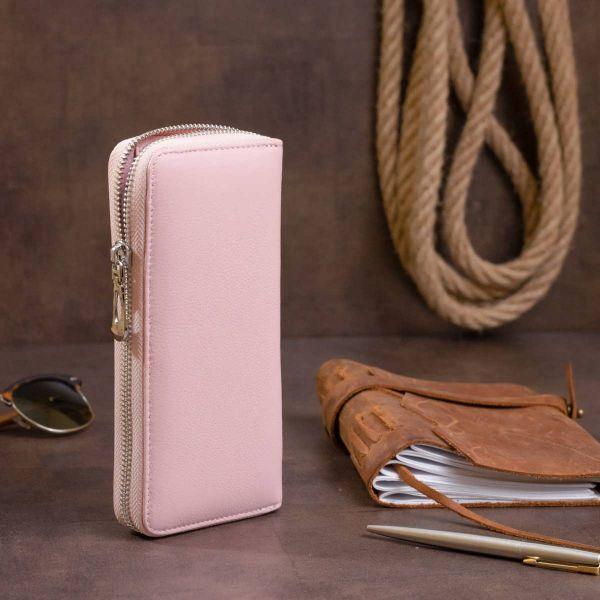 Клатч кожаный женский на молнии ST Leather 19283 Розовый