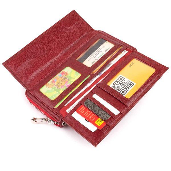 Кошелек кожаный женский ST Leather 19293 бордовый