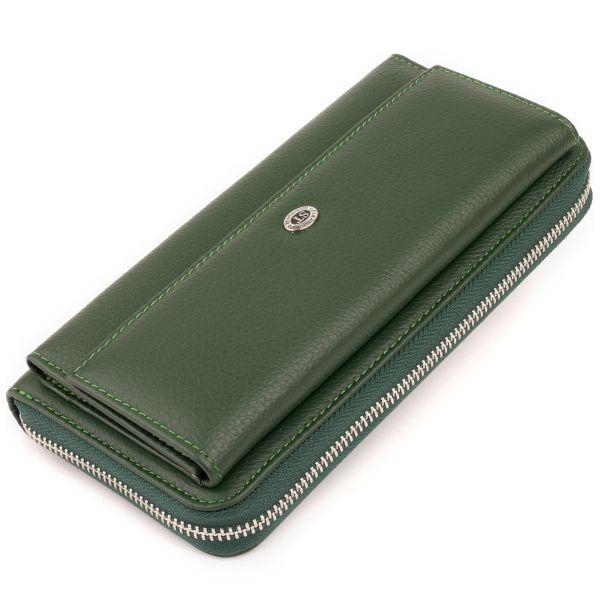 Кошелек кожаный женский ST Leather 19294 зеленый