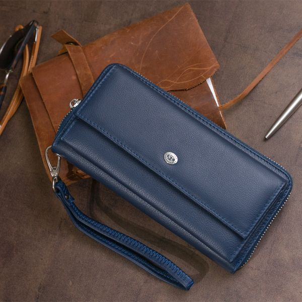 Кошелек универсальный женский ST Leather 19296 Темно-синий