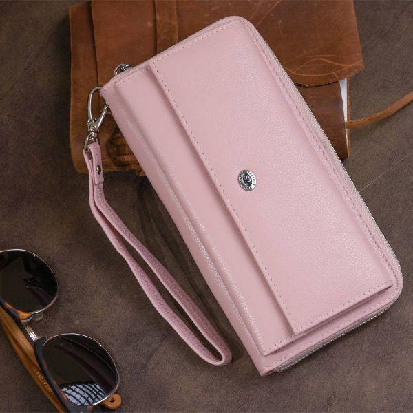 Кошелек пастельный женский ST Leather 19297 розовый