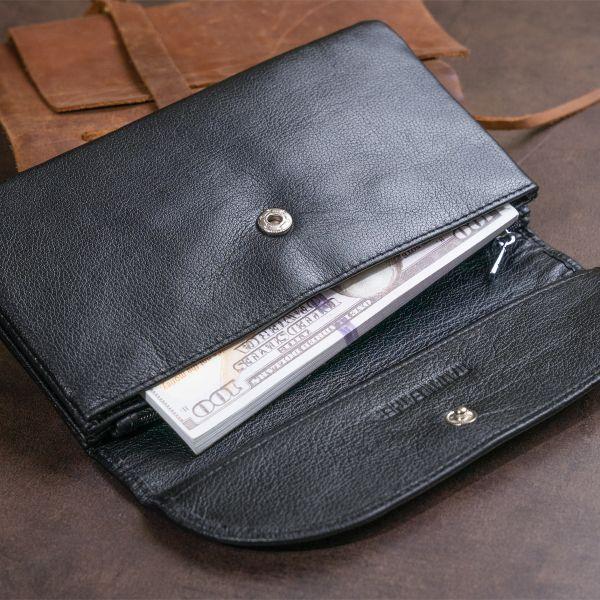 Клатч из кожи женский ST Leather 19316 черный