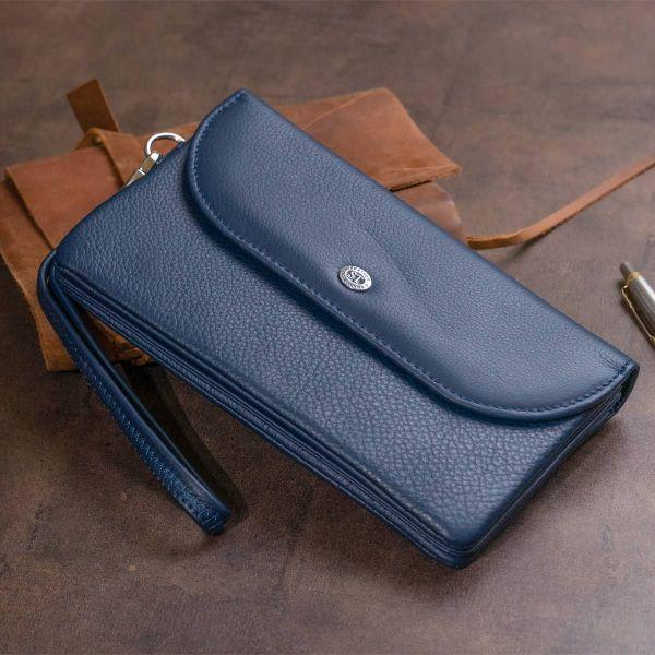 Клатч из кожи женский ST Leather 19317 Темно-синий