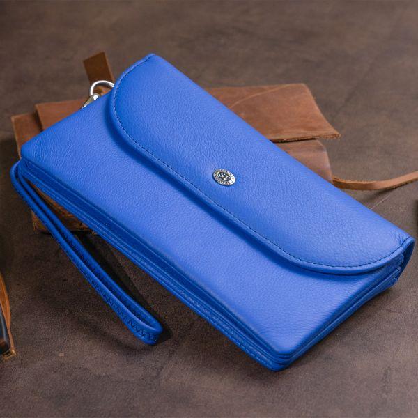 Клатч зі шкіри жіночий ST Leather 19319 синій