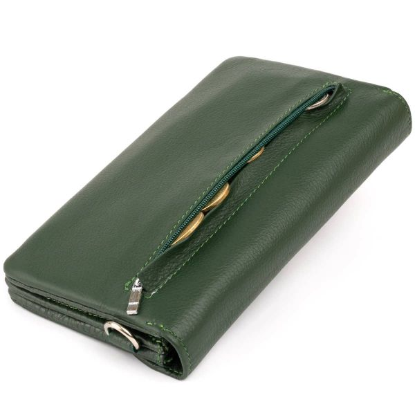 Клатч зі шкіри жіночий ST Leather 19320 зелений
